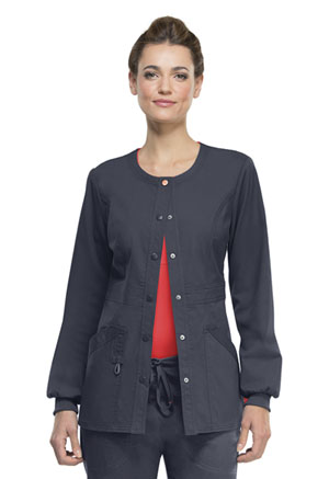 Code Happy Bliss Snap Front Warm-up Jacket in Pewter (46300A - PWCH)