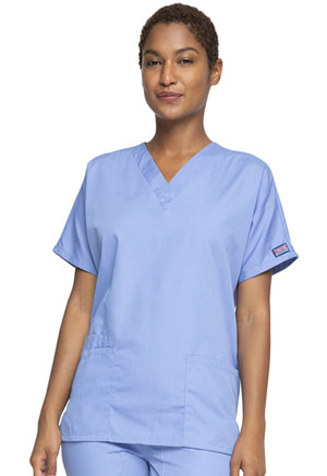 Cherokee Workwear V-Neck Top Ciel (4700-CIEW)