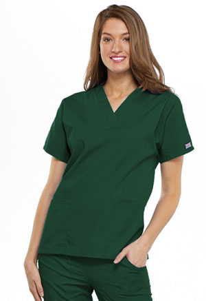 Cherokee Workwear V-Neck Top Hunter (4700-HUNW)