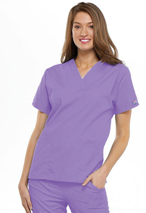 Cherokee Workwear V-Neck Top Orchid (4700-ORCW)
