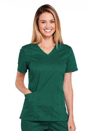Cherokee Workwear V-Neck Top Hunter (4710-HUNW)