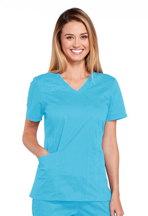 WW Core Stretch V-Neck Top (4710-TRQW) (4710-TRQW)