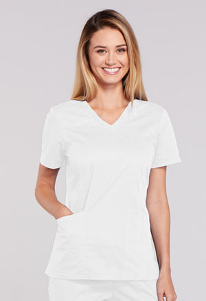 WW Core Stretch V-Neck Top (4710-WHTW) (4710-WHTW)