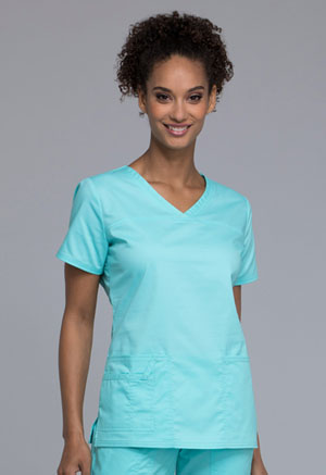 Cherokee Workwear V-Neck Top Tahiti Sweetie (4727-TAST)
