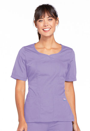 Cherokee Workwear V-Neck Top Orchid (4746-ORCW)