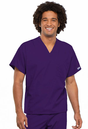 Cherokee Workwear WW Originals Unisex Unisex V-Neck Tunic Purple