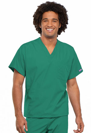 Cherokee Workwear Unisex V-Neck Tunic. Surgical Green (4777-SGRW)