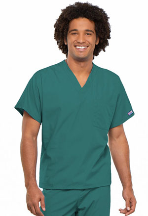 Cherokee Workwear Unisex V-Neck Tunic. Teal Blue (4777-TLBW)