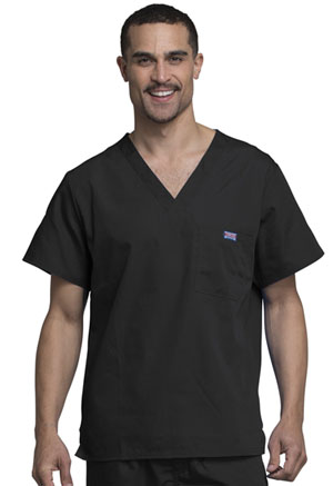 Cherokee Workwear Men's V-Neck Top Black (4789-BLKW)