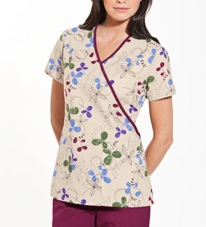Scrub HQ Mock Wrap Top Clover Park (4826-CPRK)