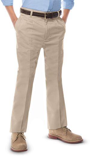 Classroom Uniforms Boys Adj. Waist Pleat Front Pant Khaki (50772-KAK)