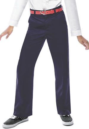 Classroom Uniforms Girls Adj. Waist Flat Front Trouser Dark Navy (51942-DNVY)