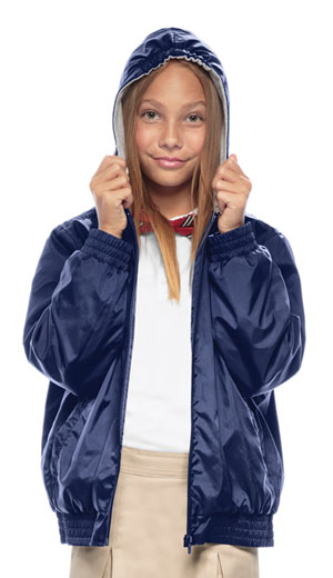 Classroom Youth Unisex Zip Front Bomber Jacket (53402-NAVY) (53402-NAVY)