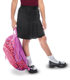 Classroom Uniforms Girls Pleated Tab Scooter Black (55122A-BLK)