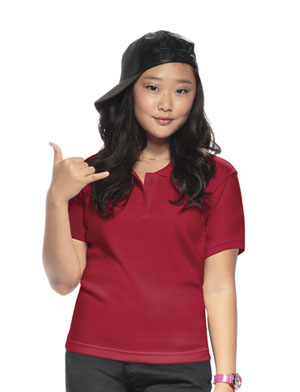 Classroom Youth Unisex Moisture-Wicking Polo Shirt (58602-RED) (58602-RED)
