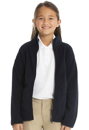 Classroom Girls Fitted Polar Fleece Jacket (59102-DNVY) (59102-DNVY)