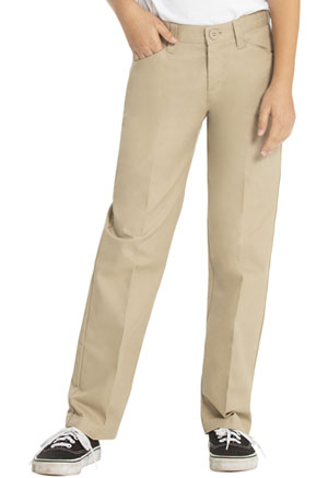 Real School Uniforms Girls Low Rise Adj. Waist Pant Khaki (61072-RKAK)