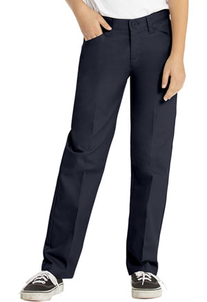 Real School Uniforms Girls Low Rise Adj. Waist Pant Navy (61072-RNVY)
