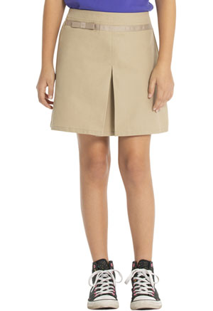 Real School Uniforms Pleat Scooter with Ribbon Bow Khaki (65002-RKAK)