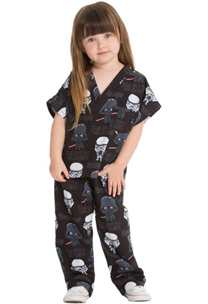 Tooniforms Kids Top and Pant Scrub Set Pop Galaxy (6620C-SRAE)