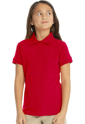 Real School Uniforms Short Sleeve Fem-Fit Polo Red (68000-RRED)