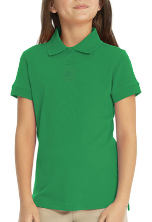 Real School Uniforms Short Sleeve Fem-Fit Polo Green (68004-RGRN)