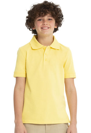 Real School Uniforms Short Sleeve Pique Polo Yellow (68110-RYEL)