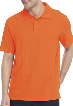 Real School Uniforms Short Sleeve Pique Polo Orange (68114-RORG)