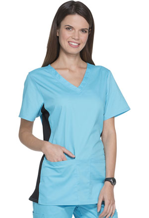 ScrubStar Canada Women's Seasonal Stretch Twill Top Turquoise (7605-TRQW)