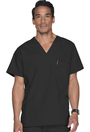 ScrubStar Unisex V-Neck Top Black (77933-BKWM)