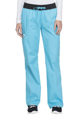 ScrubStar Women's Stretch Flex Drawstring Pant Stretch Turquoise (77953-QSWM)