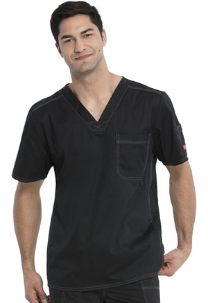 Dickies Gen Flex Men's V-Neck Top in Black (81722-BLKZ)