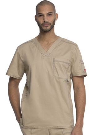 Dickies Gen Flex Men's V-Neck Top in Dark Khaki (81722-KHIZ)