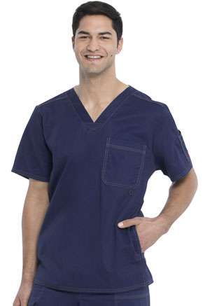 Dickies Gen Flex Men's V-Neck Top in D-Navy (81722-NVYZ)