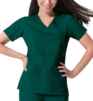 Dickies Dickies Gen Flex Women's Mock Wrap Top Green
