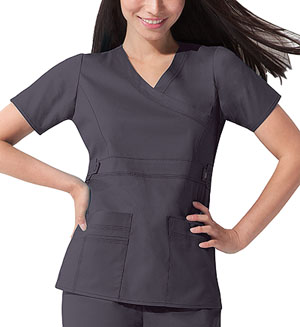 Dickies Gen Flex Mock Wrap Top in Lt. Pewter (817355-PEWZ)