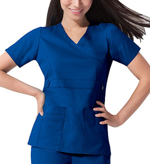 Dickies Gen Flex Mock Wrap Top in Royal (817355-RYLZ)