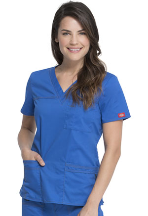 Dickies Gen Flex V-Neck Top in Royal (817455-RYLZ)