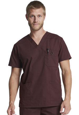 Dickies EDS Signature Men's V-Neck Top in Espresso (81906-ESP)