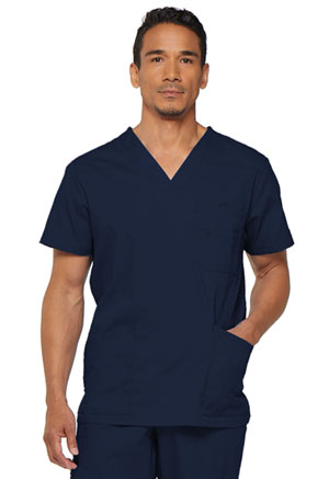 Dickies EDS Signature Men's V-Neck Top in Navy (81906-NVWZ)