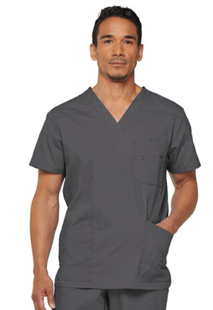 Dickies EDS Signature Men's V-Neck Top in Pewter (81906-PTWZ)