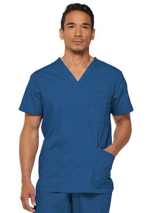 Dickies EDS Signature Men's V-Neck Top in Royal (81906-ROWZ)
