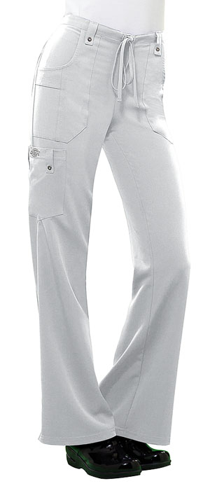 Dickies Xtreme Stretch Mid Rise Drawstring Cargo Pant in White (82011-DWHZ)