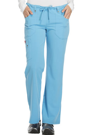 Dickies Dickies Xtreme Stretch Women's Mid Rise Drawstring Cargo Pant Blue