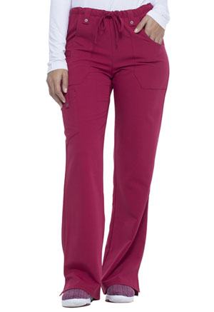 Dickies Xtreme Stretch Mid Rise Drawstring Cargo Pant in Wild Cherry (82011-WDCH)