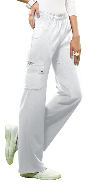 Dickies Mid Rise Pull-On Cargo Pant White (82012-DWHZ)