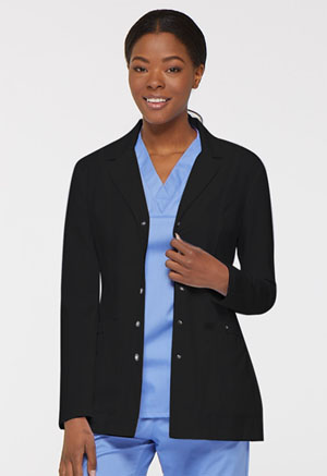 Dickies 28 Snap Front Lab Coat Black (82400-BLKZ)