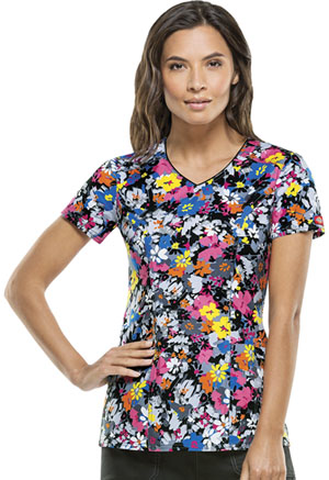 Dickies V-Neck Top Fabulous Floral (82859-FAFR)
