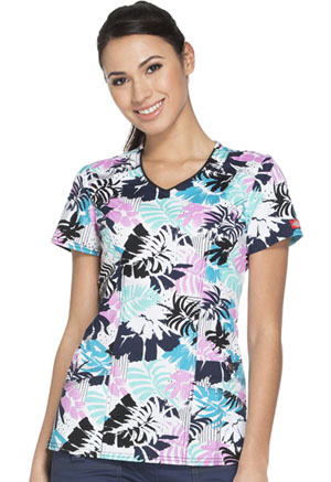 Dickies V-Neck Top Paradise Party (82859-PTPY)