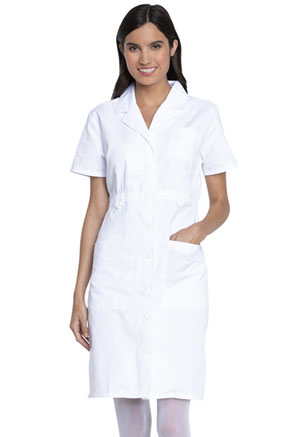 Dickies Prof. Whites Button Front Dress in White (84500-DWHZ)